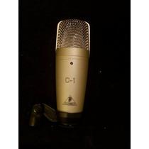 Microfone Condensado Behringer C-1 Cabo Balanceado Pedestal