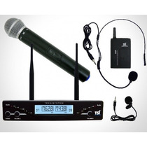Microfone S/ Fio Tsi Ud2000 Cli Uhf Na Cheiro De Música Loja