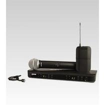Microfone S; Fio Shure Duplo Bastão + Lapela Blx1288br Pg185