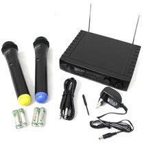 Microfone Sem Fio Skp Duplo Vhf Profissional Wireless 2671