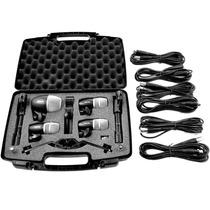 Kit Microfones P/ Bateria C/ Case E Cabos Pgdmk6 Shure