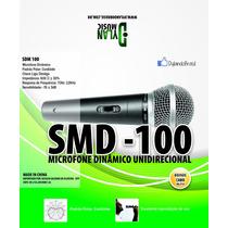 Microfone Smd100 Vocal Dylan Dinâmico Brinde Cabo 5m