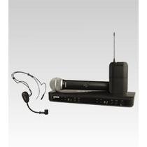 Microfone Sem Fio Shure Duplo Bastão + Headset Blx1288 Pg30