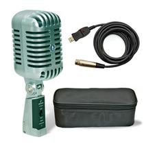 Arcano Microfone Vintage P Gravar Cabo Usb Vt-35 Pl Dinamico