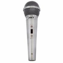 Microfone Profissional Prata Mxt Tipo Shure Sm58 + Cabo 4,5m