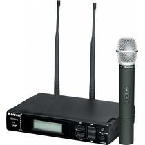 Microfone S/fio Karsect Kru-1 Top 1000 Canais Pra Escolher!
