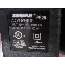 Fonte 120v Para Receptor Transmissor Shure Ps20