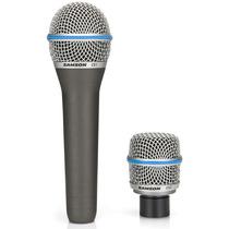 Microfone Voz Vocal Instrumento Profissional Samson Sacsmic