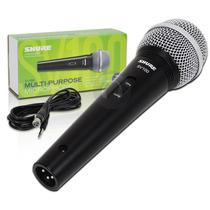 Sv100 Microfone Dinamico Shure Original C/ Cabo Sv-100 Novo