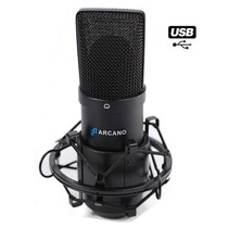 Microfone Usb Bku-01 Usb + Pedestal Vector +pop Filter Pfe05