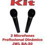 Kit Microfone Profissional C/ Fio Jwl Ba 30 - C/ 02 Unidades