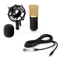 Microfone Condensador Profissional Bm700 Stúdio Gravação