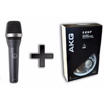 Kit Akg Microfone D5 E Fone De Ouvido K414p - Garantia E Nfe