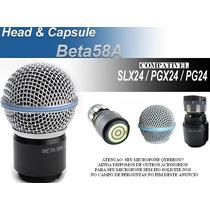 Capsula Microfone Sem Fio Shur E Beta 58 Beta 58a Slx Id1983