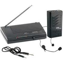 Microfone Sem Fio Headset Vhf855, Alcance 50m Em Espaço Ab