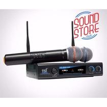 Microfone Tsi Ud-800 S/fio Duplo Mão Uhf - Sound Store