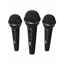 Kit Microfone Waldman K580 3pc C Case + Cabos Frete Grátis!