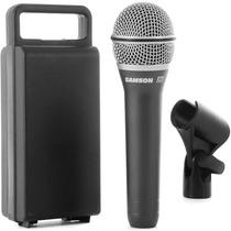 Microfone Vocal Samson Q7 Profissional Case + Cachimbo
