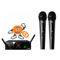 Microfone Akg S/ Fio Duplo Wms40 Mini2 Loja Tocmix