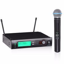 Microfone Arcano Arlx-100 = Shure Slx Uhf Beta58 Mic De Mão