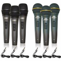Kit Com 03 Microfones Sincler Spl58 A Ou B Com Cabo= Arcano