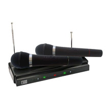 Microfone Sem Fio Duplo Fm Par Karaokê Profissional Wirelles