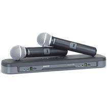 Microfone Shure Duplo Sem Fio Pg288 Sm58 Profissional Vhf