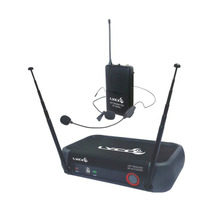 Microfone Sem Fio Lyco Vh 102 Pro Headset Auricular + Lapela