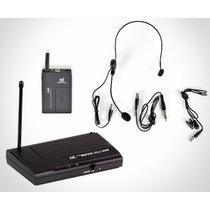 Microfone S/fio Headset Ms115 Cli-uhf C/lapela