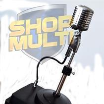 Miniatura De Microfone Retro E Normal