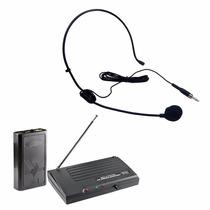 Microfone S/ Fio Profi. Auricular Headset Sound Pro Sp-200hs