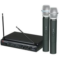 Microfone Sem Fio Karsect Kru302 De Mão Uhf Lançamento Pilha