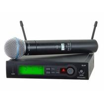 Microfone Shure Slx24 Beta58a Original 3 Pinos Supercardióid