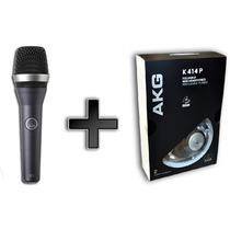 Kit Akg Microfone D5 E Fone De Ouvido K414p