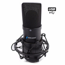 Microfone Usb Arcano Para Estúdio Black Usb 01