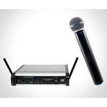 Microfone De Mão S/fio Tsi Ms115 Plus Uhf - Novo Nf+garantia