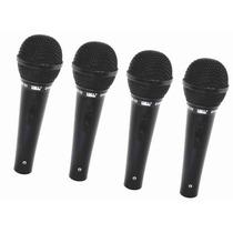 Kit 4 Microfone Com Fio Tipo Shure Unidirecional Jwl Sm-22