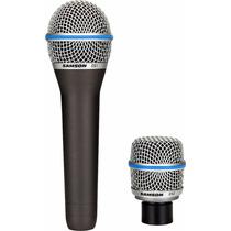 Microfone Samson Csmic P/ Estúdio 2 Em 1 Cápsula Voz+instrum