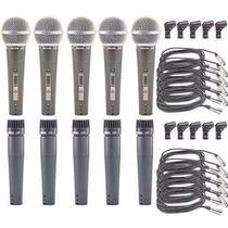 Sjf Kit 05 Microfones Arcano A-57 Ou A-58 = Shure