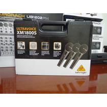 1 Kit Com 3 Mics Behringer Xm1800s Microfone (novo)