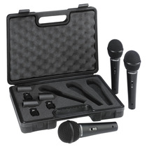 Kit De 3 Microfones Dinâmicos Behringer Xm1800s