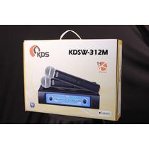 Microfone S/fio Kadosh Duplo Kdsw 312m Vhf Hendrix