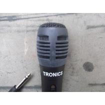 Microfone Para Karaoke Tronics Acompanha Fio
