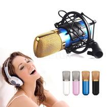 Microfone Condensador Profissional Bm700 Stúdio Gravação Pre