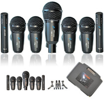 Fg Kit De Microfones Arcano Black Series 7 Mics Para Bateria