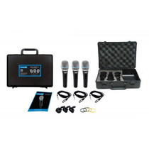Kit 3 Microfones Vocal Lyco Sml48sp C/ Cabo P10 5m E Caximbo