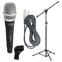 Microfone Profissional Sce + Pedestal Com Cachimbo + Cabo
