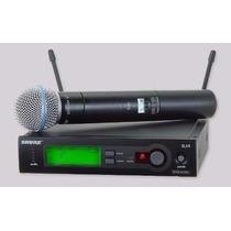 Microfone Shure Sem Fio Slx24 Beta 58 Novo E Original