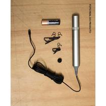 Microfone Sony De Lapela Com Fio Ecm 77b
