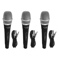 Kit 3 Microfones Profissionais + Cabos Tipo Shure Sm57 Sm58